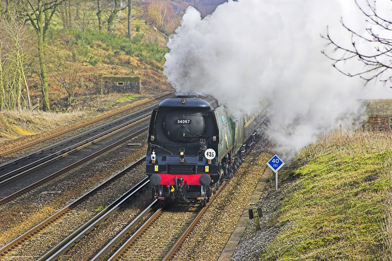 18th Feb 06: 34067 Tangmere, 1Z82, VSOE Victoria - Eastleigh and return