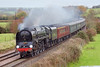 25th Nov 06:  71000 Duke of Gloucester rushes down hill through Great Cheveral on it's way from Victoria to Bristol with the Cathederals Express.