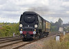 7th Aug 05::  34067 Tangmere and support coach heading west on the Berks & Hants prior to working a tour to Penzance and back - Theale