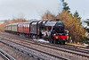 14th Dec 06: 45231 Climbs onto the main line at Byfleet & New Haw with the Cathederals Express from Victoria to Salisbury and Westbury.