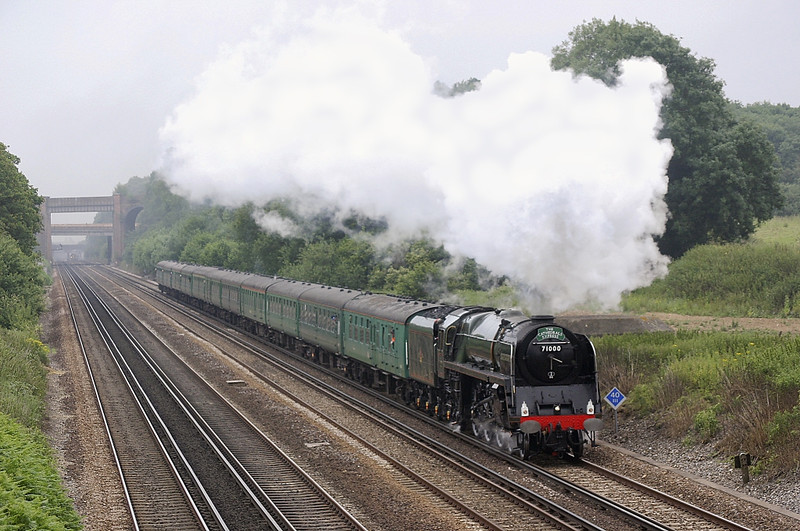 9th Jul 05: 71000 Duke of Gloucester  Sunny south Special, Kensington to Weymouth (1Z91) at   Totters Lane