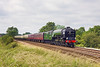 28th Jun 12:  The day's Cathedrals Express running from Salisbury to Worcester in the hands of LNER A1 Pacific 60163 'Tornado' is captured climbing away from Mortimer
