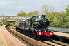 9th May 14:  Running sweetly through Tiverton Parkway is 5.43 'Earl of Mount Edgecumb' heading to Plymouth from Tyseley Loco Works.  The move is in preparation for the following day's' Zulu 48' tour