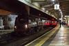 27th Nov 14:  The returning 'Christmas Market Special Bristol & Bath to Poole runs through Platform 2 at Westbury.    Shot settings were 1/200  f2  iso 6400  Canon 50mm f1.4 prime
