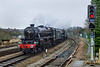 15th Dec 2016:  Entering Salisbury are LMS Black 5s 44871 and 45407 heading 1Z82 from Victoria to Yeovil