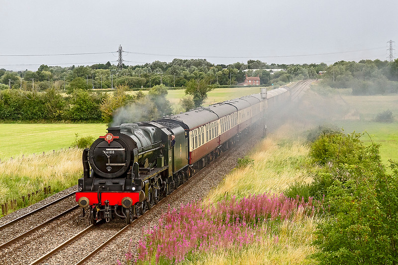 26th Jul 2020:  Saphos Trains 'The English Riviara Express' is running fron Bristol Temple Meads to Kingswear.  In charge of 1Z27 is 46100 'Royal Scot'  pictured just after a shut off steam on the approach to Hawkeridge Junction.