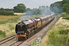 20th Aug 08:  Stanier Pacific 6233 Duchess of Sutherland has just shut off as she races west past Frouds Lane, Woolhampton.  The Cathedrals Express is running  from Victoria to Exeter.