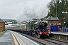13th Dec 08:  GWR Castle 5043 'Earl of Mount Edgcumbe' roars through Taplow on it's way from Tyseley to Kensington Olympia.