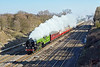 1st Mar 10:  The Welsh Dragon, with 60163 Tornado in charge, from Victoria to Swansea is on time and going well as it passes through Ruscombe