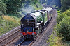 """9th Aug 10:  Returning to Hither Green after the test run 60163 """"Tornado"""" runs through Silchester"""