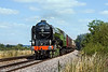 """9th Aug 10:  Having had the boiler repairs completed 60163 """"Tornado"""" undertook it's loaded test run today.  5Z62 was used to take empty coaching stock from Willesden to Eastleigh.  Captured here from the foot crossing in Grazeley"""