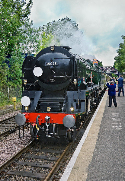 8th Jul 11:  35028 at Shalford for a water stop