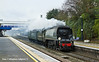 18th Mar11:  34067 Tangmere cruises through Twyford following an Up Turbo.  5Z37 brings her  from Carnforth to Southall in preparation for the weekend's rail tour