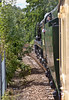 8th Jul 11:  35028 on the curve leading to the river crossing at Staines