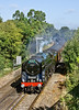"""13th Sep 11:  The seasons last running of te Dorset Coast Expess is captured at Cox's Lock in Addlestone behind 70013 """"Oliver Cromwell"""""""