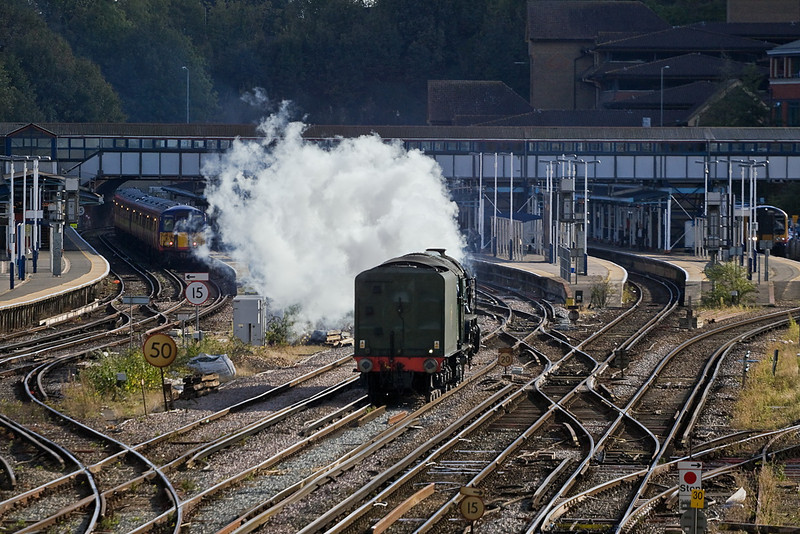 20th Oct 11:  Tornado changing ends prior to heading to Alton.  My favourite picture of the event