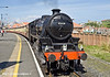 """4th May 11:  LMS Black 5 45428 """"Eric Treacy"""" stands at Whitby waiting to depart"""