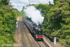 """14th May 11:  Powering the """"Swanage Belle"""" over the M3 and through Lyne is LMS Balck 5  45305.  70013 'Oliver Cromwell' would work the return journey"""