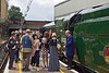 8th Jul 11:  Passenger on the VSOE gather to admire the engine and have their picture taken in front of it