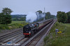 12th Jul 11:  Running aproximately 80 minutes late 70000 Britania passes Totters Lane near Winchfield on the return leg of the Dorset Coast Express from Weymouth to Victoria.  At 9.12pm the light was fading quickly 1/650 @ f1.6  iso 1600