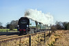 10th Dec 09:  34067 Tangmere in charge of 1Z82 the Cathex from Victoria to Oxford via Redhill is seen here nearing Ash