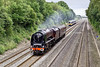 3rd Jul 09:  6233 Duchess of Sutherland working 5Z30 back to Butterley from Ilford