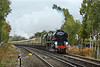 """28th Oct 09:  35028 """"Clan Line"""" nears Martins Heron  station in Bracknell with the days running of the VSOE (1Z97) from Victoria to Oxford."""