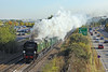 8th Oct 09: 34067 heads he Cathedrals Express to Bristol from Victoria