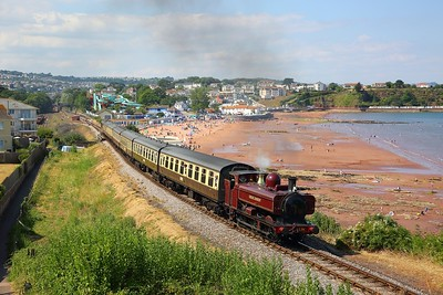 L94 on the 1545 Paignton to Kingswear at Goodrington on the 15th July 2018