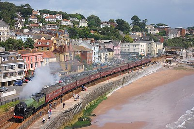 60163 Dawlish on 1Z27 Bristol Temple Meads to Kingswear on the 5th July 2009