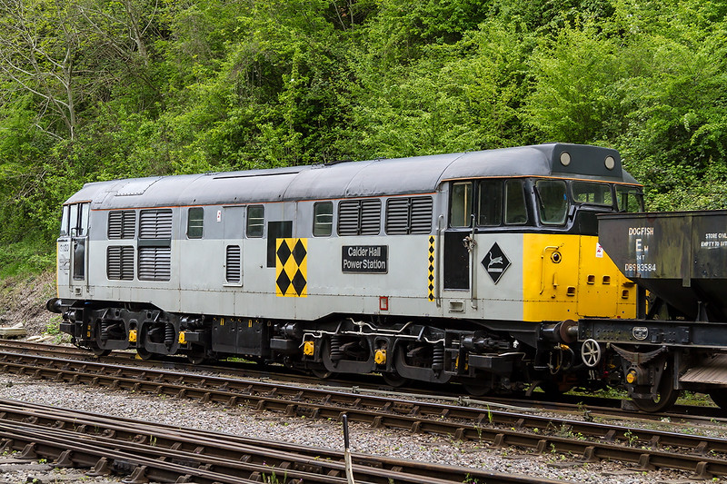 4th May 2014:  The beautifully preserved 31130 'Calder Hall Power Station' at Bitton on the Avon Valley Railway