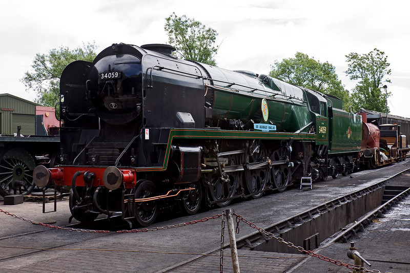17th June 09:  Newly completed 34059 Sir Archibald Sinclair