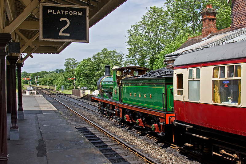 17th June 09: SECR Class C No 952 was provided to take the party on an afternoon tea trip to Kingscote