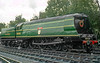 """11th Sep 83:  In as built condition 34023 """"Blackmoor Vale"""" stands at Sheffield Park"""