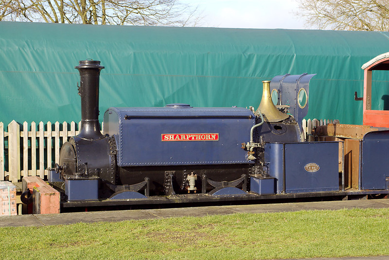 4th Feb 07: Manning Wardle No 641 was Built in 1877. Named Sharpthorn it was used on the original construction of the line
