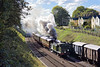 """17th Oct 10:  The Pullman dining spaecial gets away from Horsted Keynes with class E4 No. B473 on the point.  Note that the title """"Southern"""" on the tank side has been covered in connection a film being made there."""