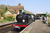 15th Apr 07:  Billington Class E4  32473waits to depart from the delightful station at Sharpthorne