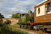 17th Oct 10:  LBSCR Class E4 0-6-2 Tank engine powers the Pullman lunchtime diners special towards Horsted Keynes