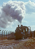 14th Sep 84: LBSCR A1X 32670 pilots GWR Pannier 3738 on a Mail Pick Up at Didcot