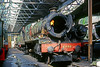 30th Mar 86:  6998 Burton Agness Hall being worked on in the shed at Didcot