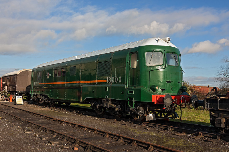 25th Nov 12:  Brown Boverei Gas Turbine prototype 18000 stands at Didcot.  When I remember it at Westbury it was black?