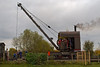 3rd Nov 07:  The Thomas Smith (Rodley) Ltd crane helps with some re-sleepering on the main demonstration line