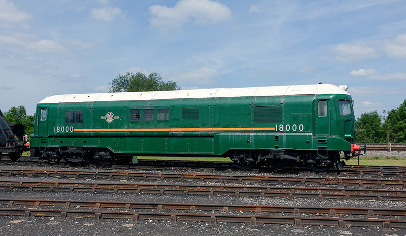 2nd Jun 13:  he Brown Boverie Gas Turbine locomotive.  When I saw it on the GWML it was black with the early BR Totem on the  side !
