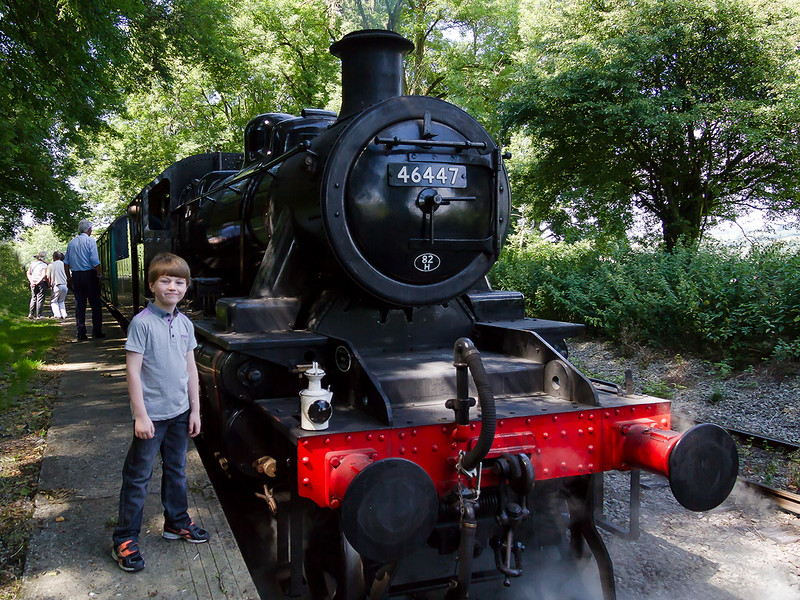 8th Aug 2015:  Robbie and 46447 at Mendip Vale