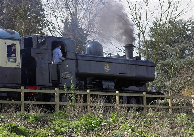 2nd April 06:  9681 climbs towards Lydney