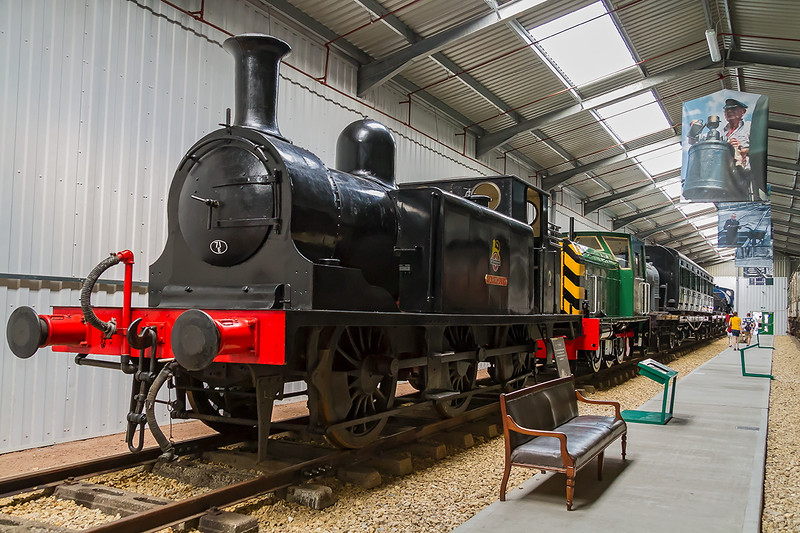 25th Aug 2016:  Designed by William Stroudly for the LBSCR this Class E1 was built in 1877 and numbered 110 'Burgundy'.  After 50 years service it was sold on for colliery use and miraculously has survived.  It  never worked on the Isle of Wight but is an appropriate home for it now painted BR black and numbered 2 'Yarmouth'. Shot settings 1/40 @ f6.3  iso 3200