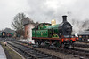 23rd Mar 13:  the 1908 built SECR class 'H' 0-4-4 tank No 263  makes for the station at Sheffield Park