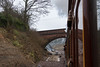 23rd Mar 13:  The view from the 3rd Coach No 663 an LBSCR 4 wheel 1 st of 1880. The size of the cutting cand be seen under the Imberhorne Lane bridge.  The service powered by 2 SECR tanks was the 10.45 from Sheffiield Park to East Grinstead
