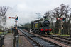 23rd Mar 13:  LBSCR Class E4  #473 arriving at Sheffield Park with the first commercial departure from East Grinstead