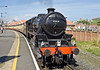 "LMS Black 5 45428 ""Eric Treacy"" stands at Whitby waiting to depart"